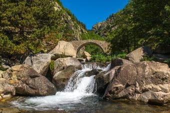 Pont de Cremal. Camí Vell de Queralbs a Núria. Parc Natural de Capçaleres del Ter i el Freser.