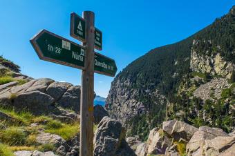 """Ruta """"Camí Vell de Queralbs a Núria"""". Parc Natural de Capçaleres del Ter i el Freser."""