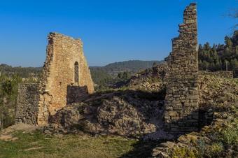 Escarpats i castell de Sallent. Sallent