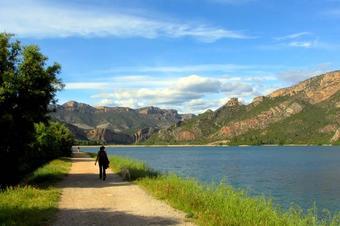 """Ruta """"Volta al pantà de Sant Llorenç de Montgai""""."""